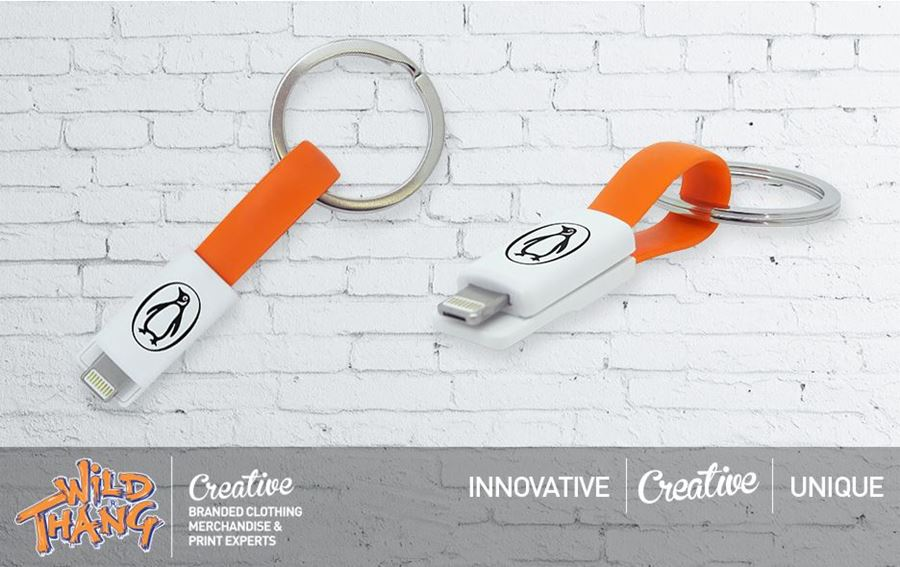 Innovative 2-in-1 Magnetic Keyring Charging Cable