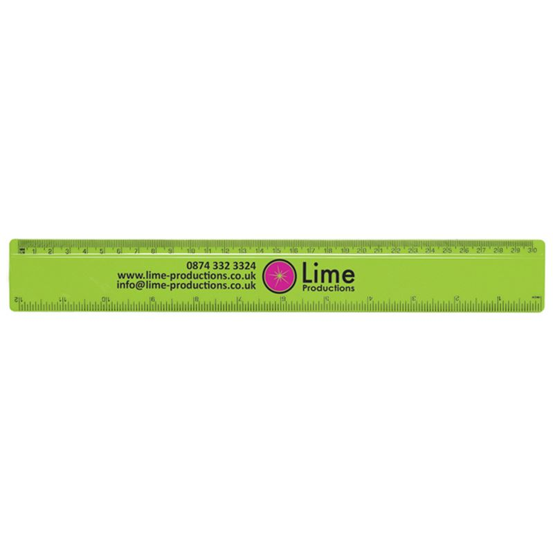Picture of 30cm/12inch Solid Plastic Ruler
