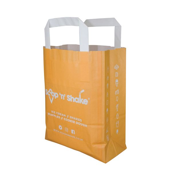 Picture of SOS Flat Paper Carrier Bag