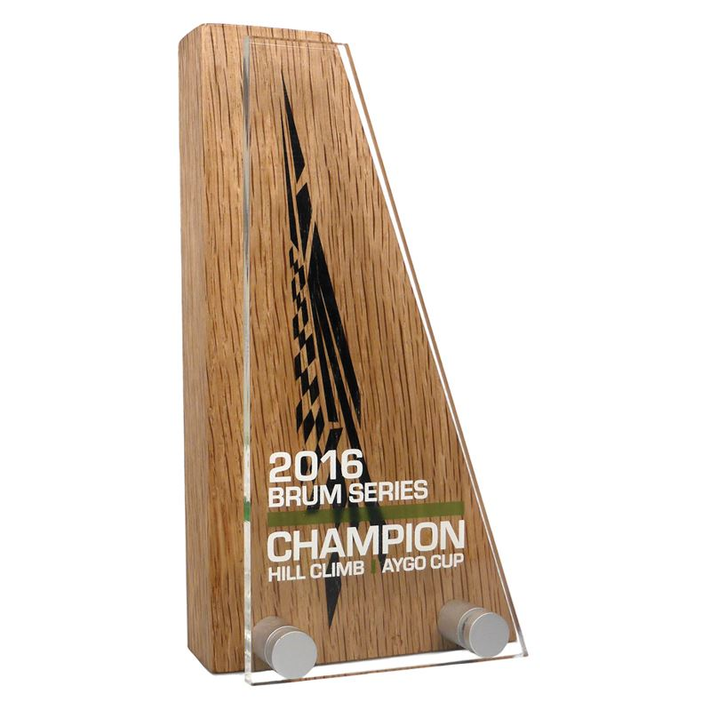 Picture of Real Wood Block Award with Acrylic Face
