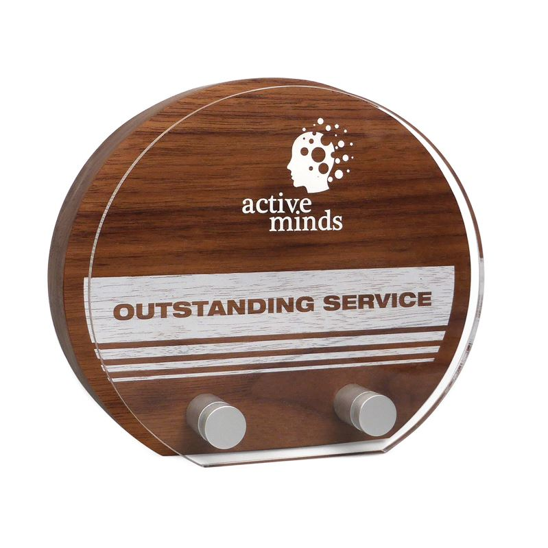 Picture of Real Wood Sunrise Award with Acrylic Face