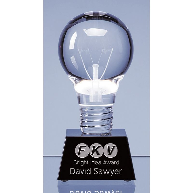 Picture of Optical Crystal Lightbulb Award
