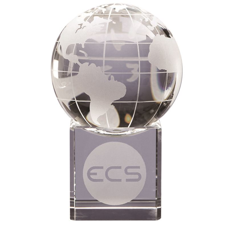 Picture of 6cm Optical Crystal Globe on Clear Base