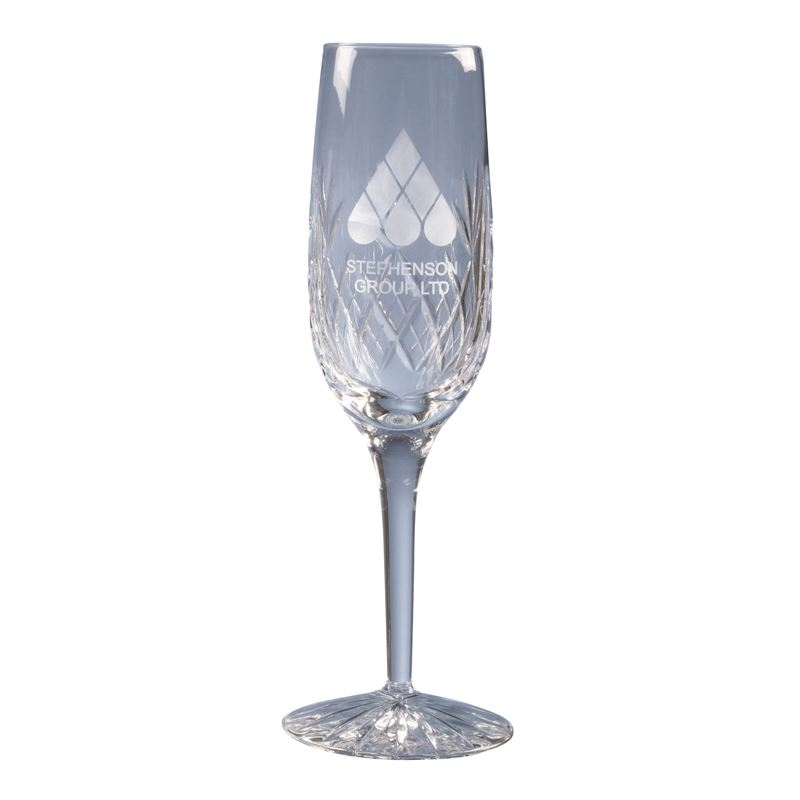 Picture of 180ml Blenheim Lead Crystal Panel Champagne Flute