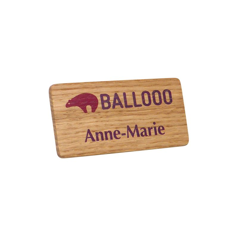 Picture of Real Wood Name Badges