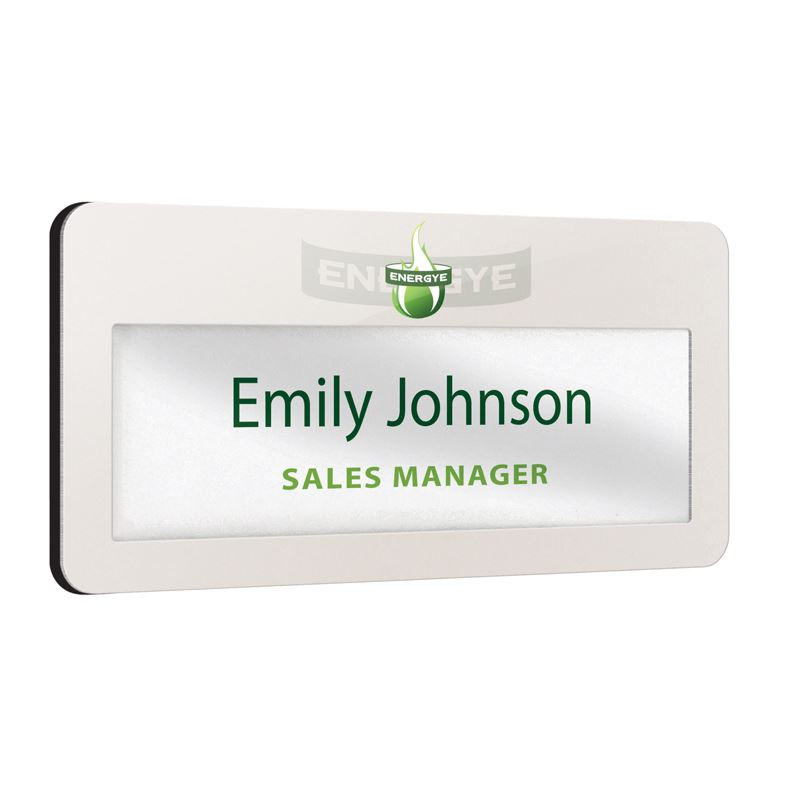 Picture of Metal faced reusable name window badges