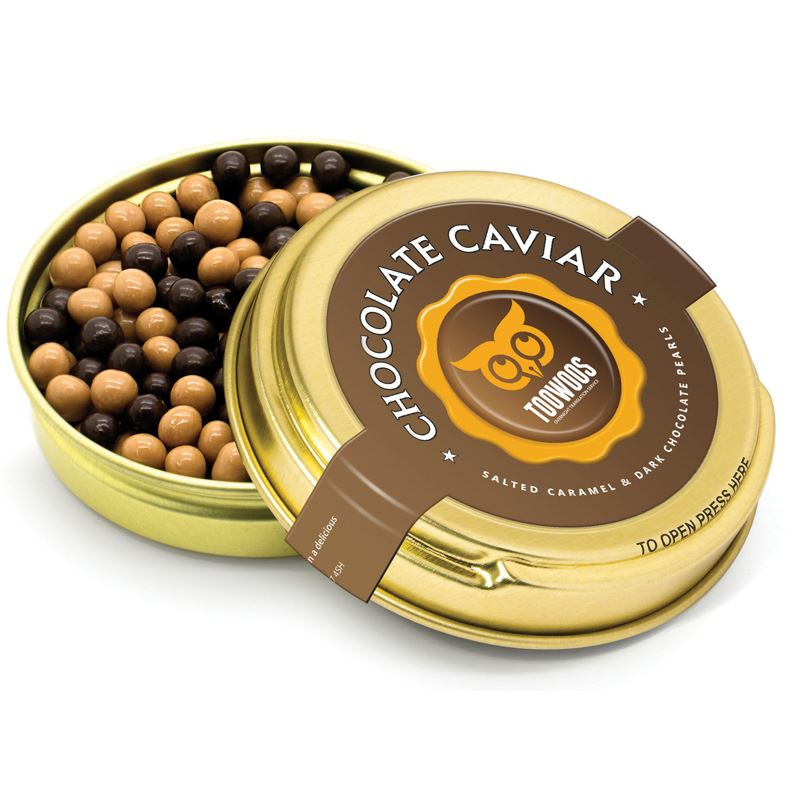 Picture of Caviar Tin - Gold - Dark & Salted Caramel Pearls