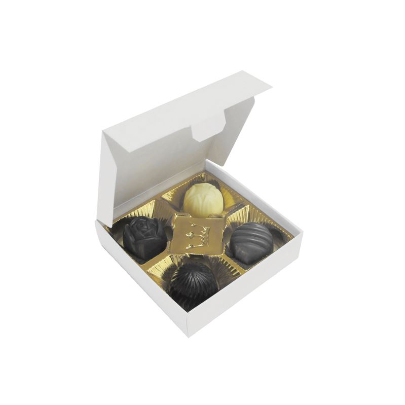 Picture of Box of 4 chocolates with different fillings 49g