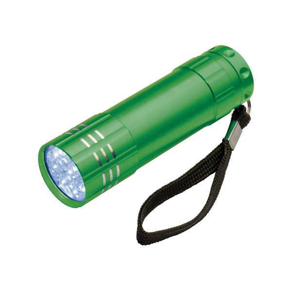 Picture of 9 LED light metal torch.
