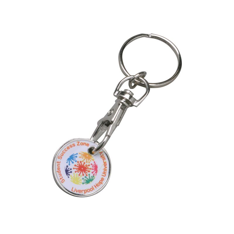 Picture of Printed trolley coin keyring