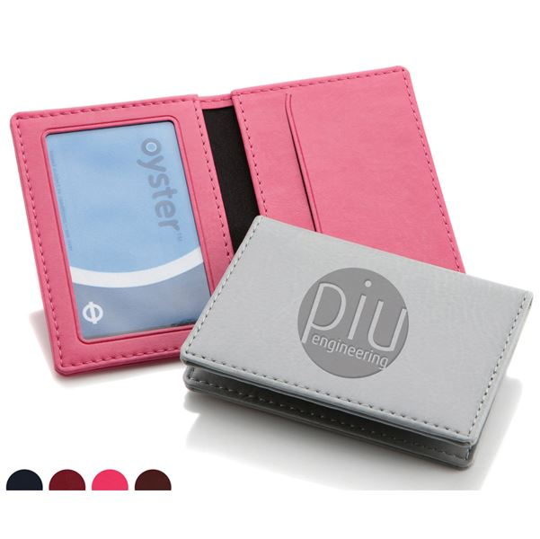 Picture of Belluno Leatherette Oyster Travel Card Case