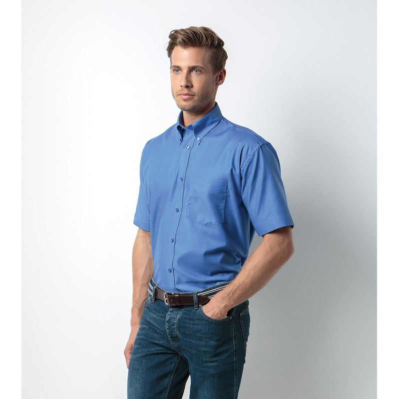 Picture of Mens Short Sleeve Oxford Shirt