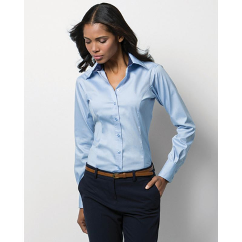 Picture of Ladies Long Sleeved Oxford Shirt
