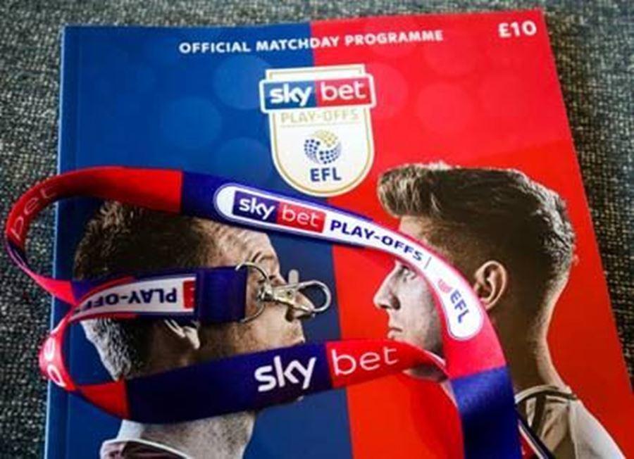 Merchandise in action EFL Play off finals Wembley Stadium