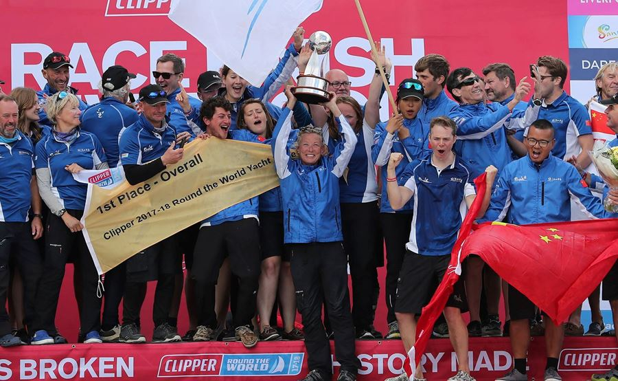 Branded Merchandise in action – History Made & winners of the most extreme clipper race on the planet !