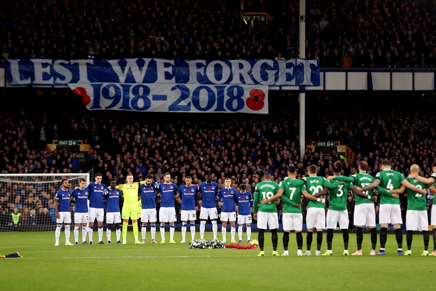 Everton support the Thank-You 100 Poppy Appeal