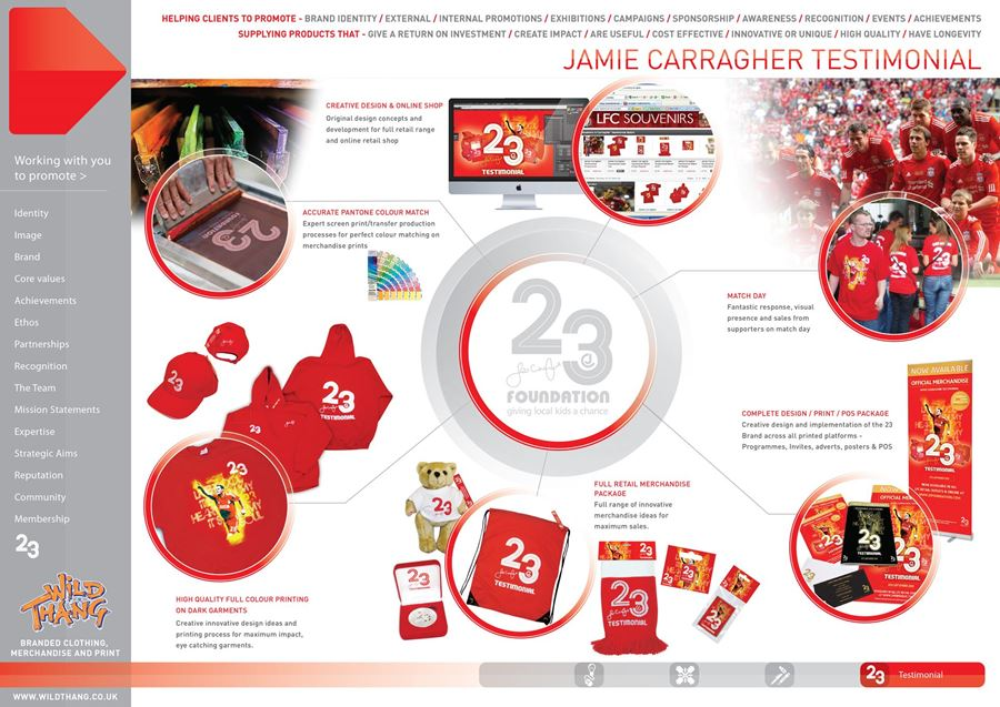 Showcase Campaign Jamie Carragher Testimonial scoring with amazing Merchandise !