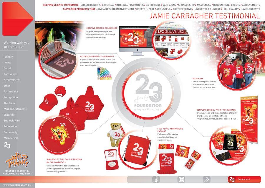 Showcase Campaign Jamie Carragher Testimonial scoring with amazing Merchandise !