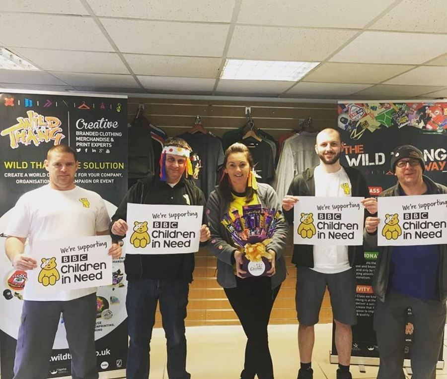 Team Wild Thang ate their weight in cake to raise funds for Children in Need!