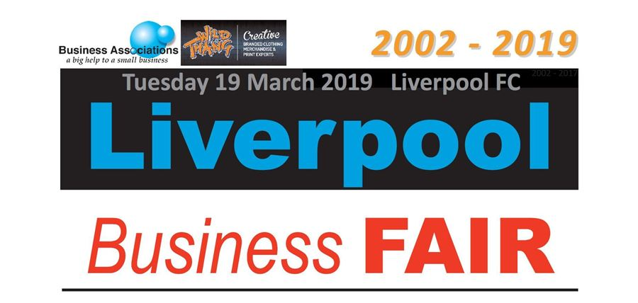 PROUD SPONSOR AND EXHIBITOR OF THE LIVERPOOL BUSINESS FAIR 2019