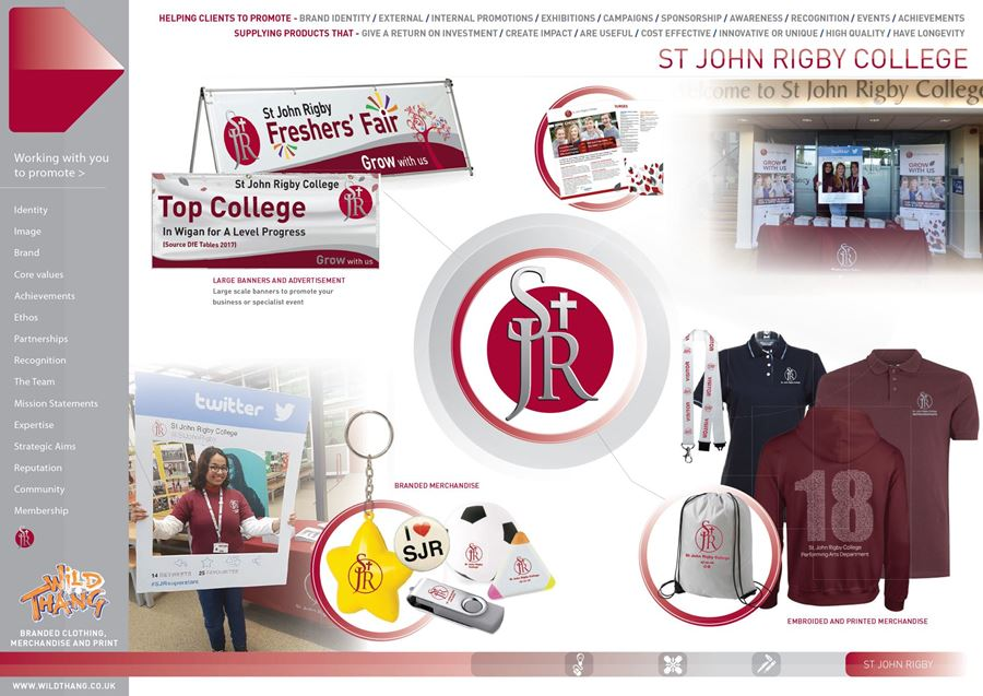 SHOWCASE CAMPAIGN SAINTLY MERCHANDISE FOR ST JOHN RIGBY