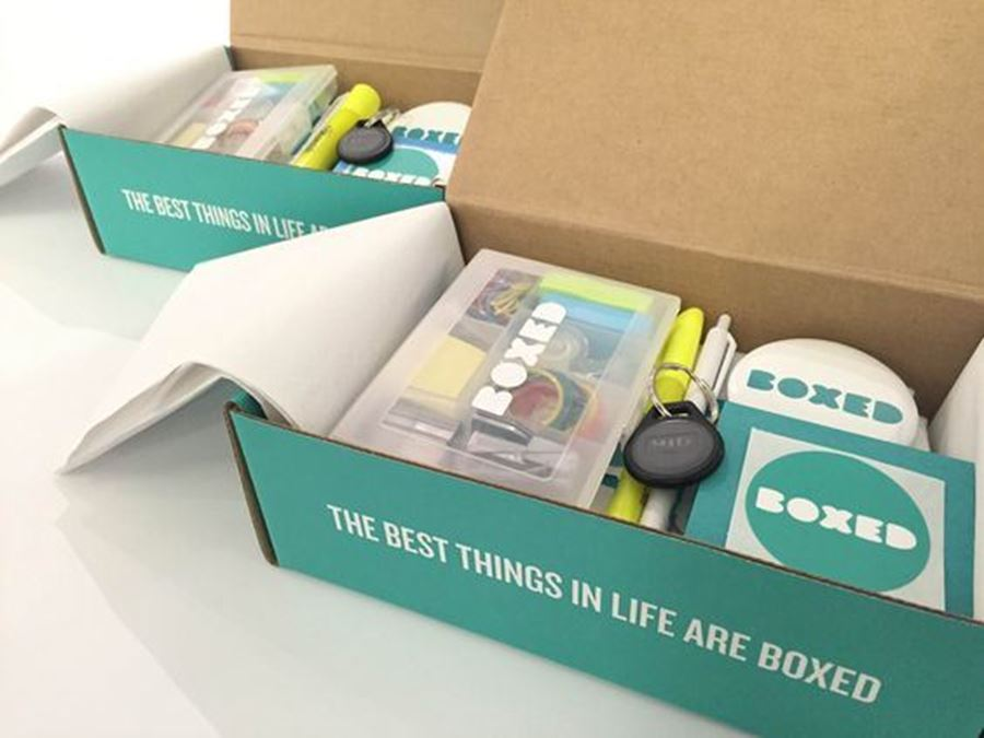 Merchandise in action - we really know how to box you off!
