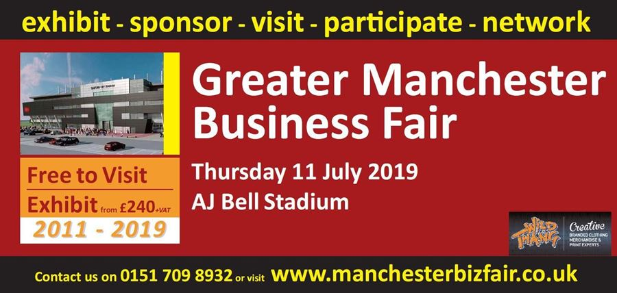 Proud sponsor and exhibitor of the Greater Manchester Business Fair