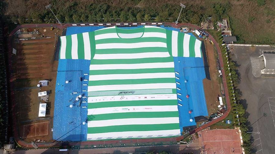 The World's Largest T-shirt Made From Recycled Plastic PET Bottles !
