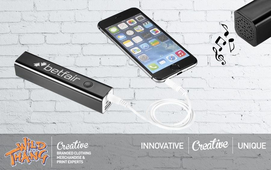 Innovative Combined Bluetooth® Power Bank Speaker