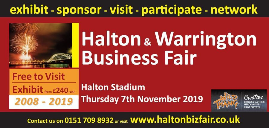 Proud sponsor and exhibitor of the Halton & Warrington Business Fair #HaltonBizFair