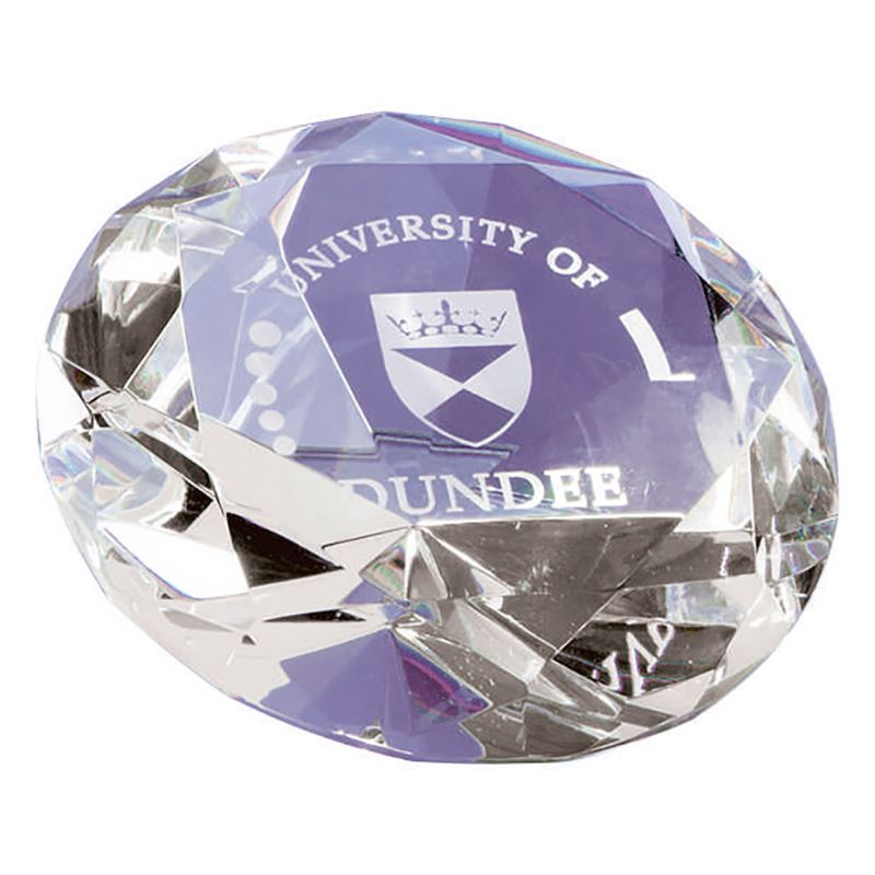Picture of 8cm Optical Crystal Clear Diamond Paperweight