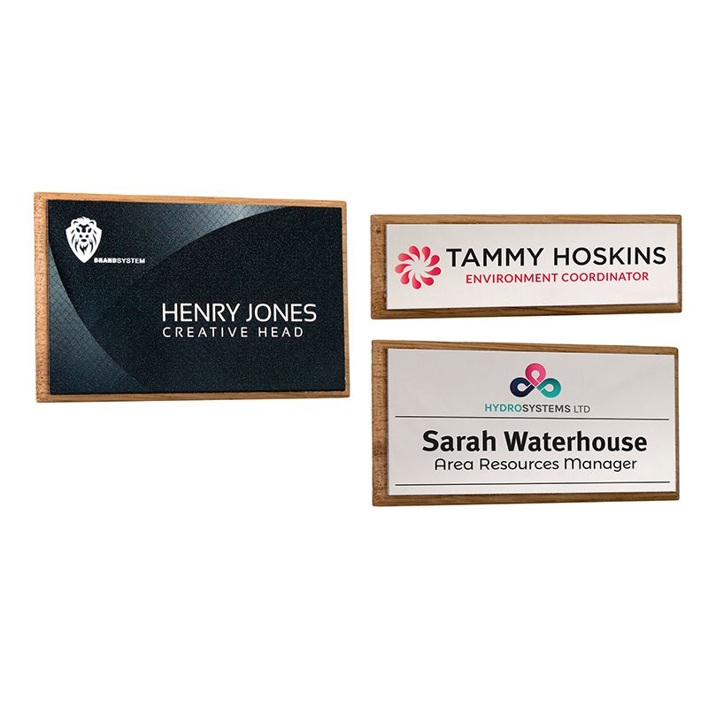 Picture of Real Wood Framed Name Badges