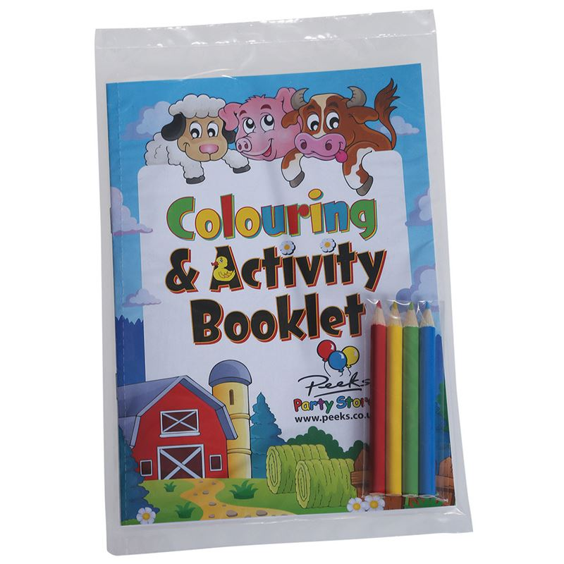 Picture of A5 8 Page Colouring Book + 4 pack of pencils