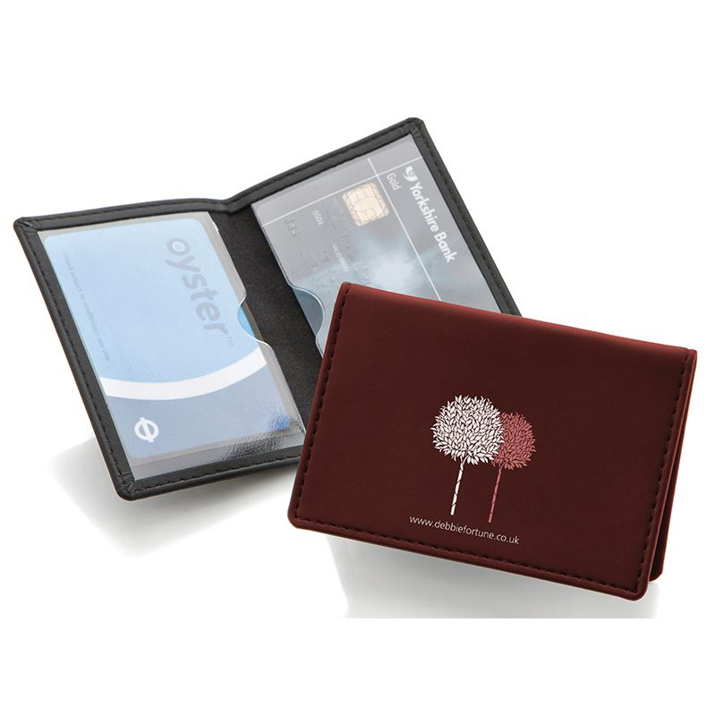 Picture of Belluno Leatherette Credit or Travel Card Case
