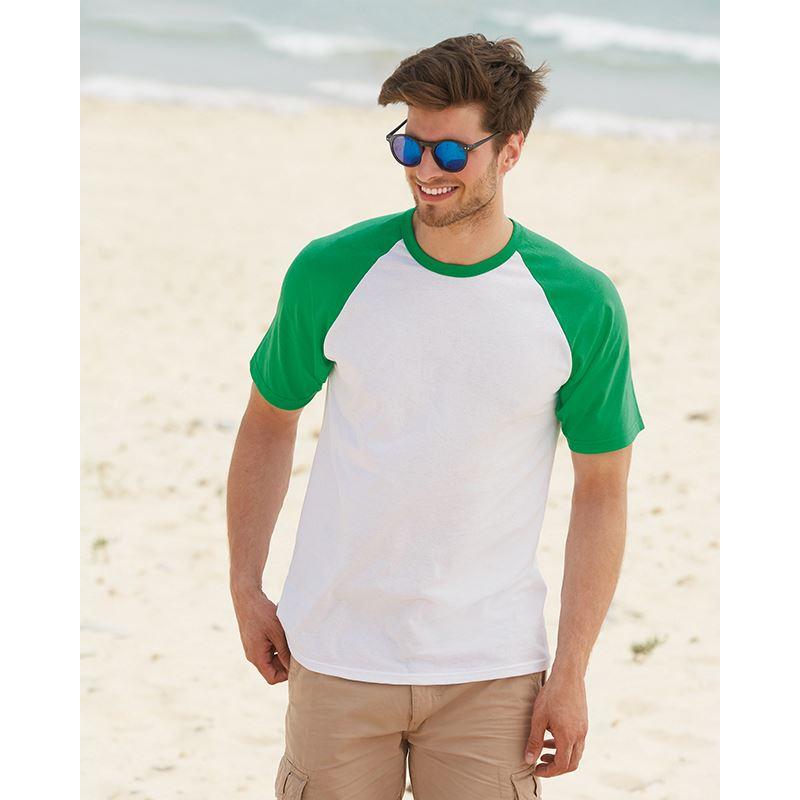 Picture of Mens short sleeve Baseball T Shirt