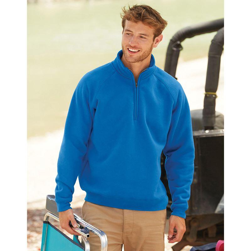 Picture of Mens Premium zip neck sweat