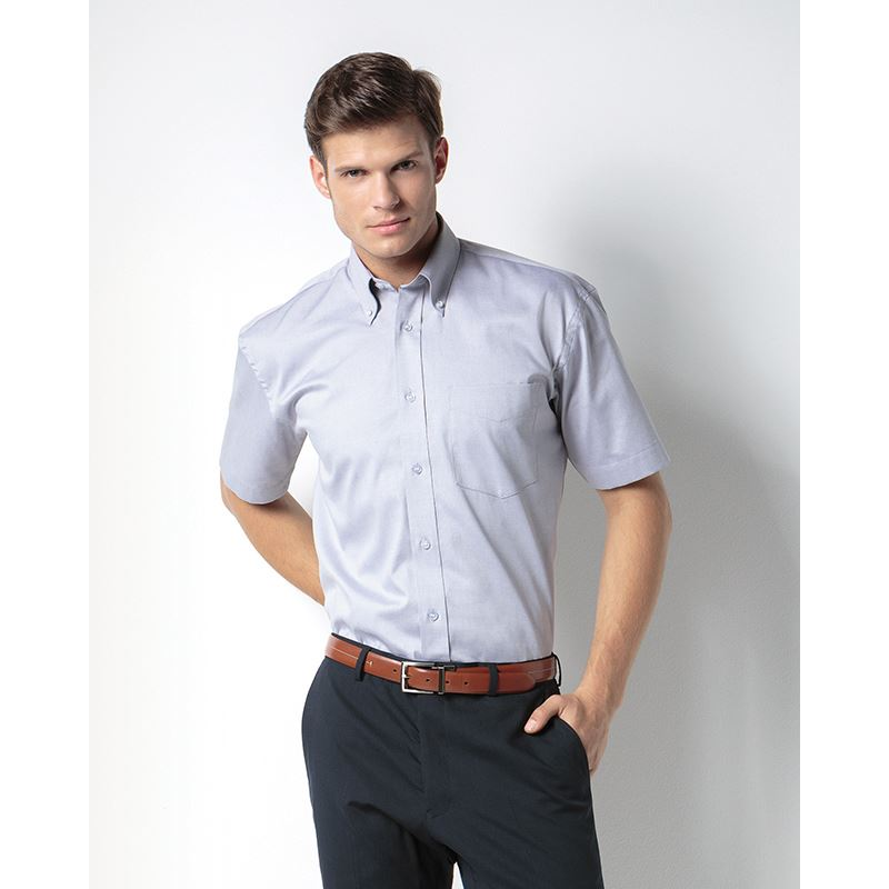 Picture of Mens Pinpoint Oxford Short Sleeve Shirt