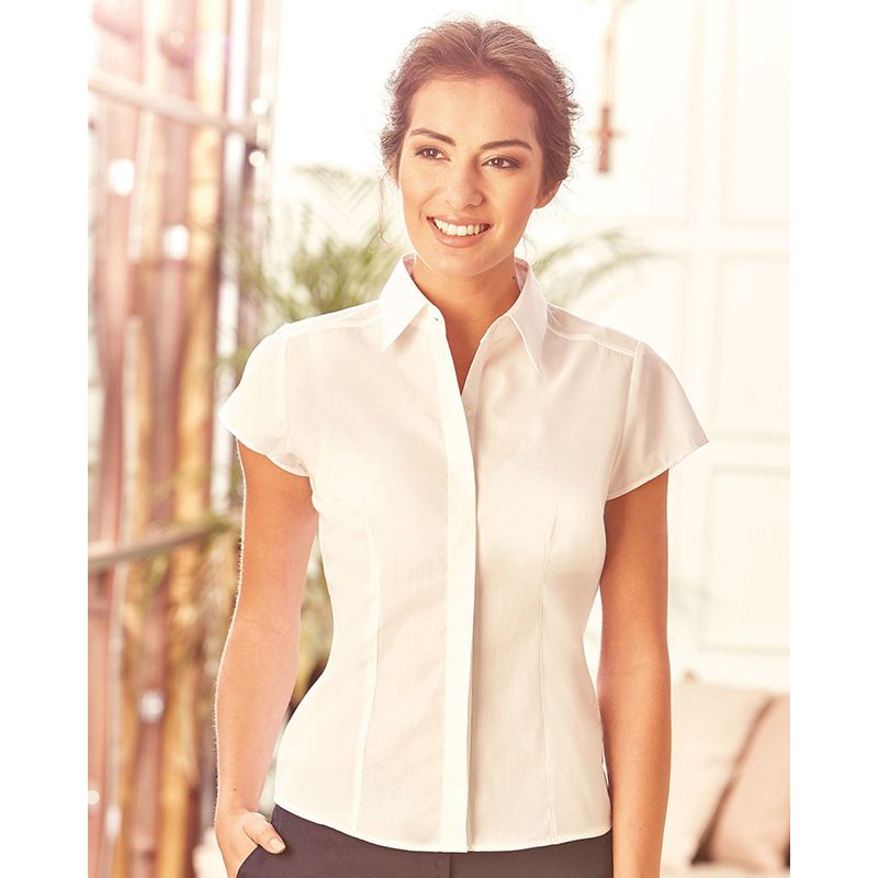 Picture of Ladies fitted poplin shirt