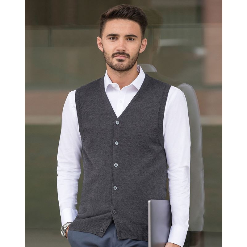 Picture of Sleeveless knitted Gareth Cardigan