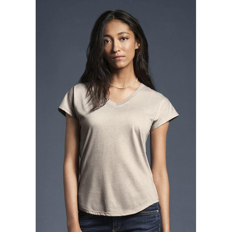 Picture of Womens Tri-blend V neck T Shirt