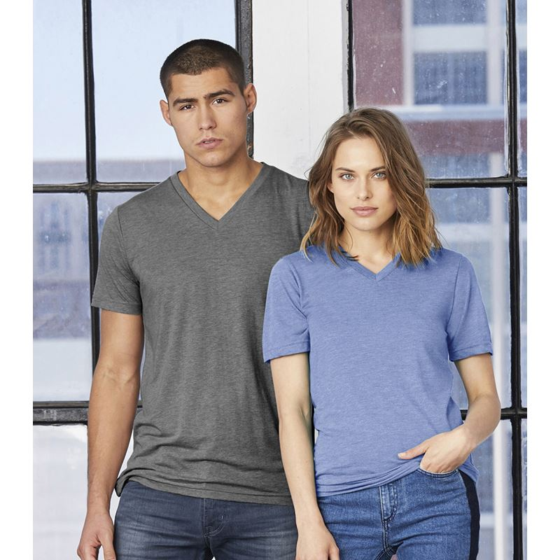 Picture of Unisex tri-blend V-neck T Shirt