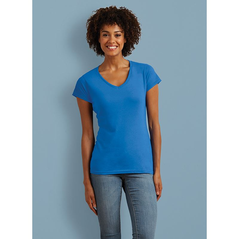 Picture of Gildan Ladies Softstyle V Neck T-Shirt