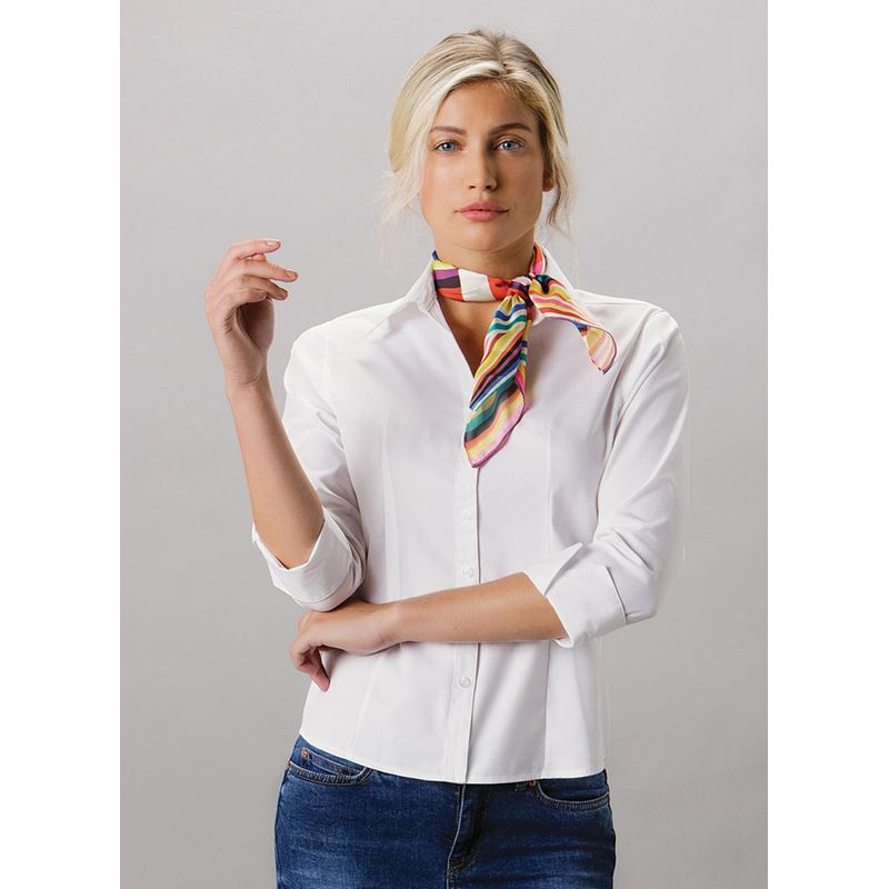 Picture of Ladies 3/4 sleeve Oxford Shirt