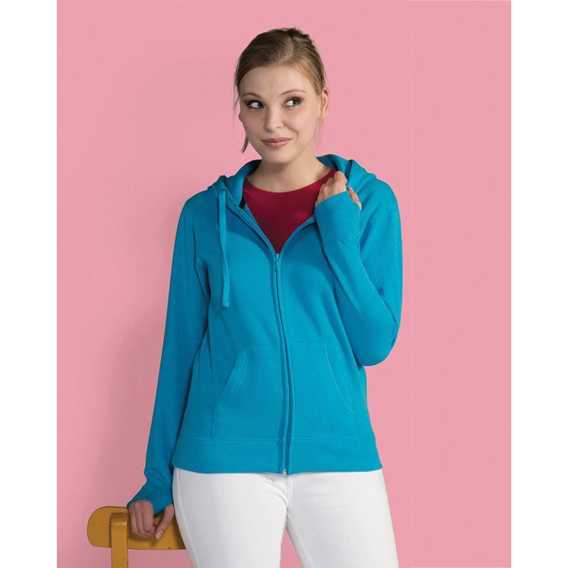 Picture of Ladies full zip hoodie