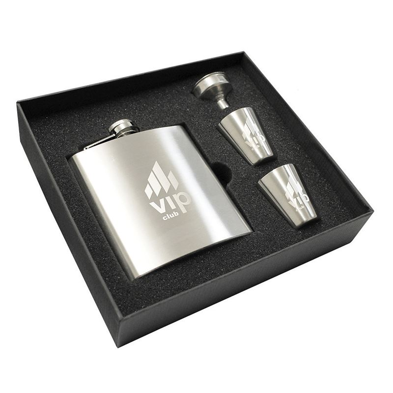 Picture of Troyes Hip Flask Set