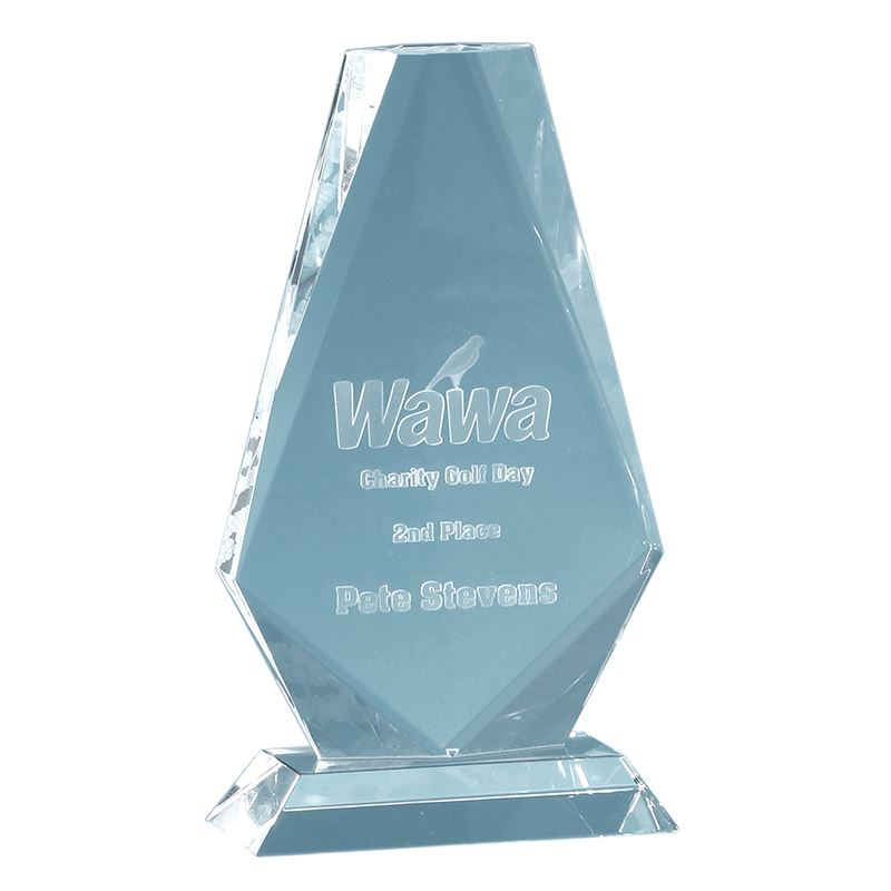 Picture of 17.5cm Optical Crystal Cropped Iceberg Award