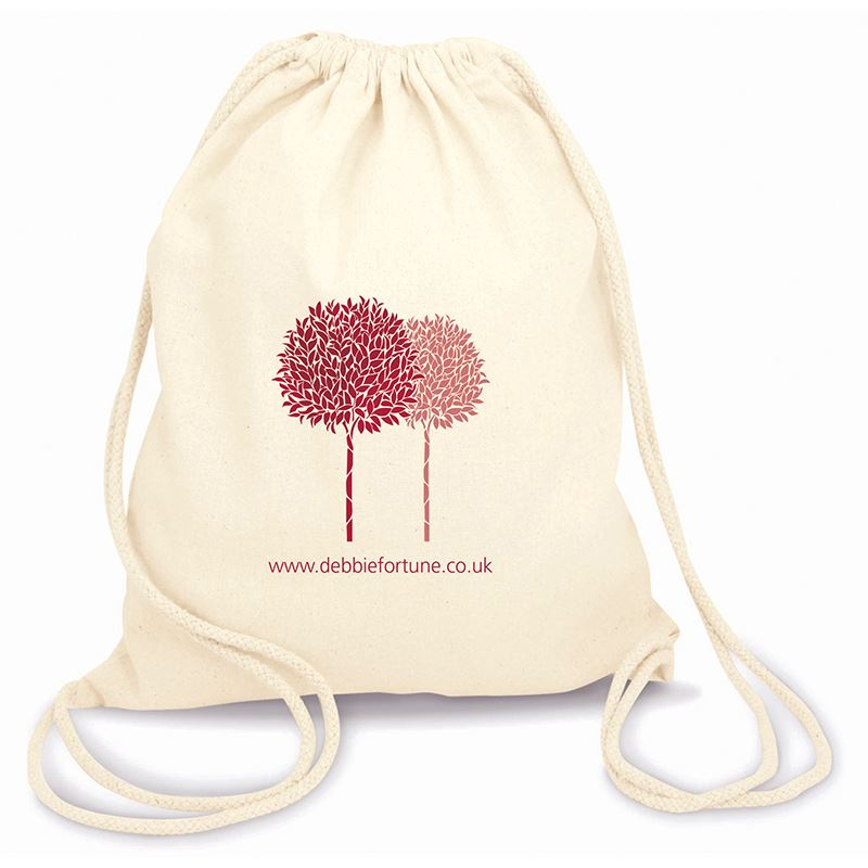 Picture of Green & Good Columbia Fairtrade & Organic natural cotton drawstring backpack