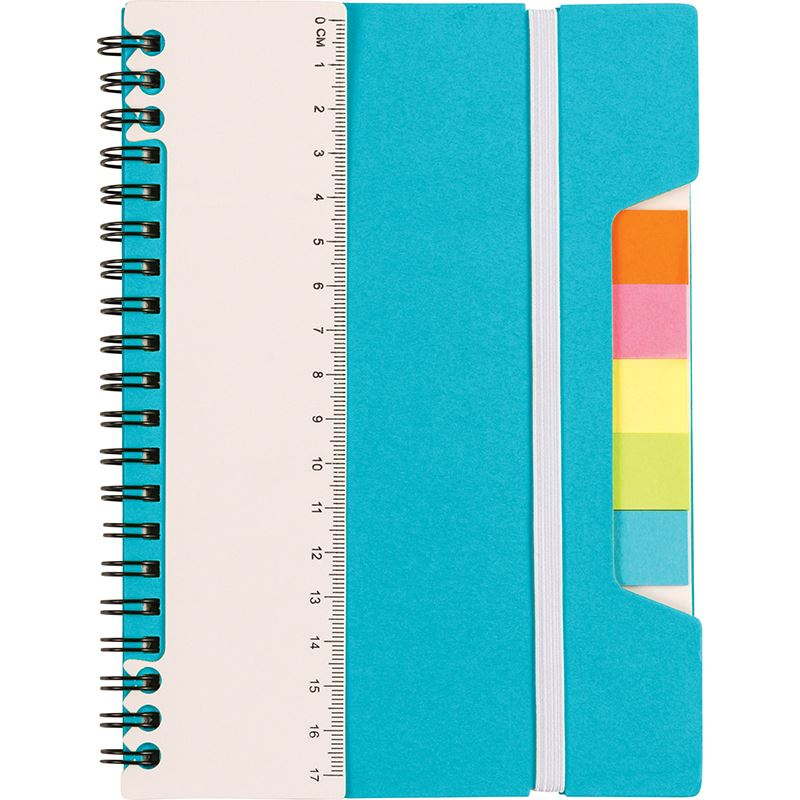 Picture of Wire bound notebook with ruler and sticky notes