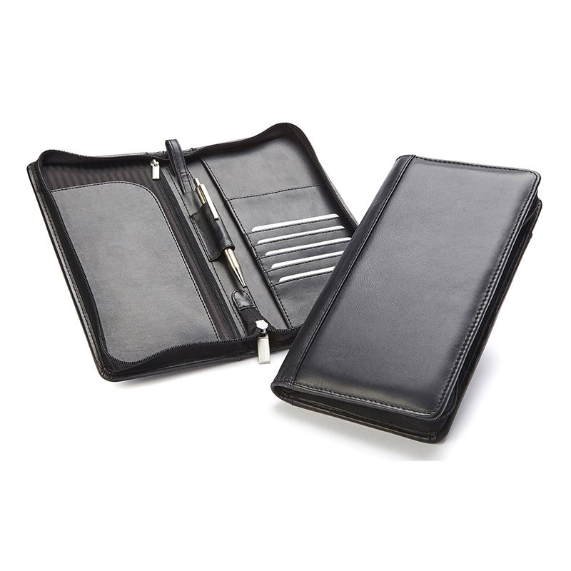 Picture of Sandringham Nappa Leather Zipped Travel Wallet with RFID