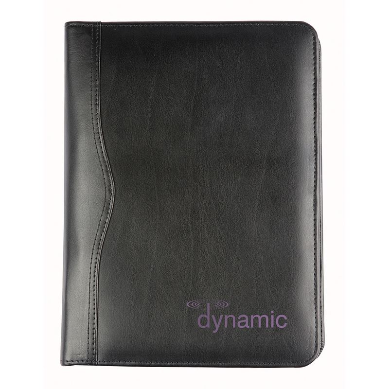 Picture of Black Balmoral Leather A5 Zipped Conference Folder